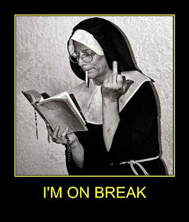 Nun on a break joke picture