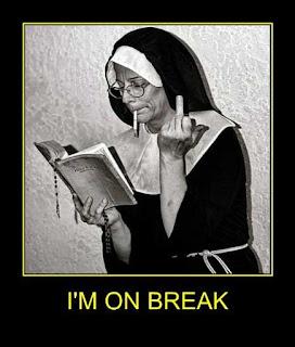 Nun on a break joke picture
