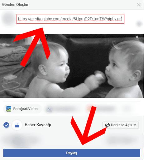 Facebook'a Gif Ekleme / Yükleme