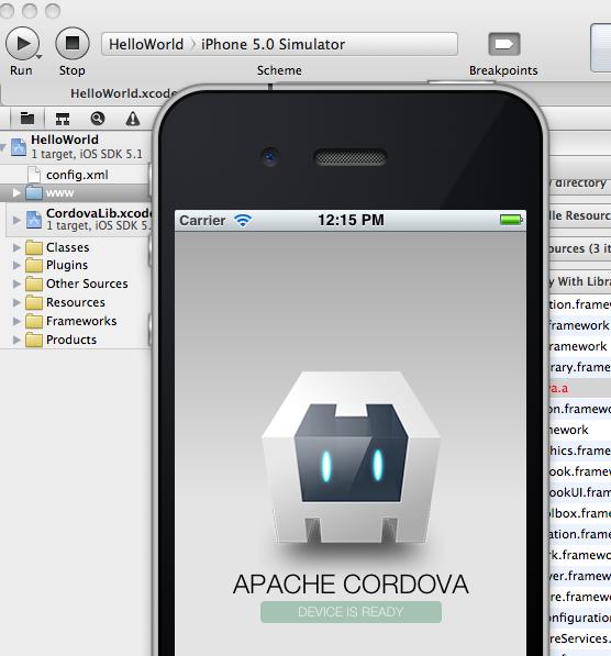 XCode 4 2 and Phonegap / Cordova and CDVInvokedUrlCommand