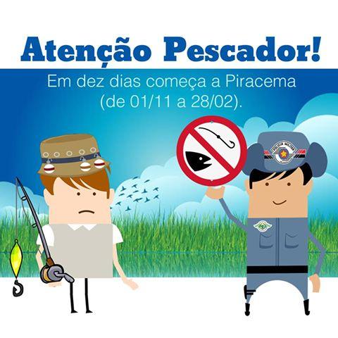 Atenção Pescador - Período de Piracema no Estado de São Paulo 01/11 à 28/02