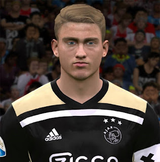 PES 2017 Faces Matthijs de Ligt by ABW_FaceEdit