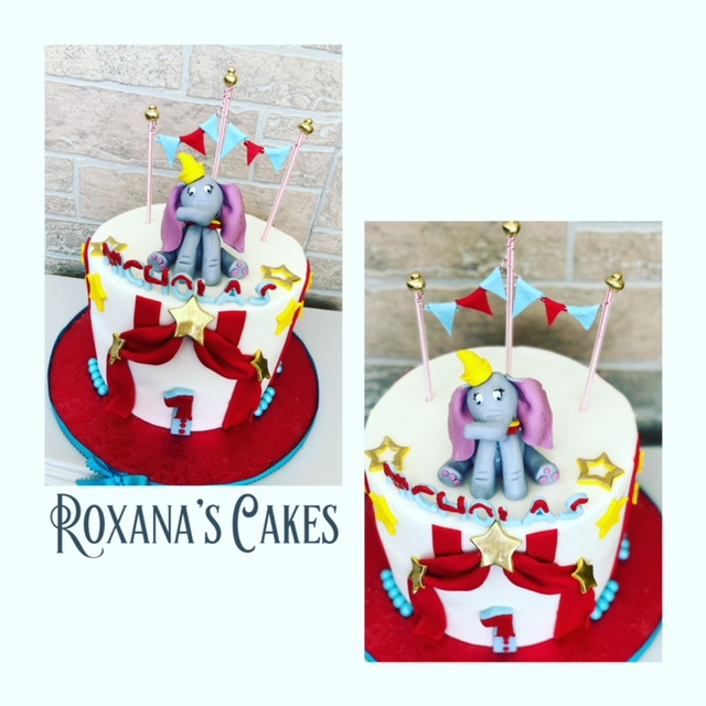 Cool Baking With Roxanas Cakes Dumbo Themed Birthday Cake Birthday Cards Printable Trancafe Filternl
