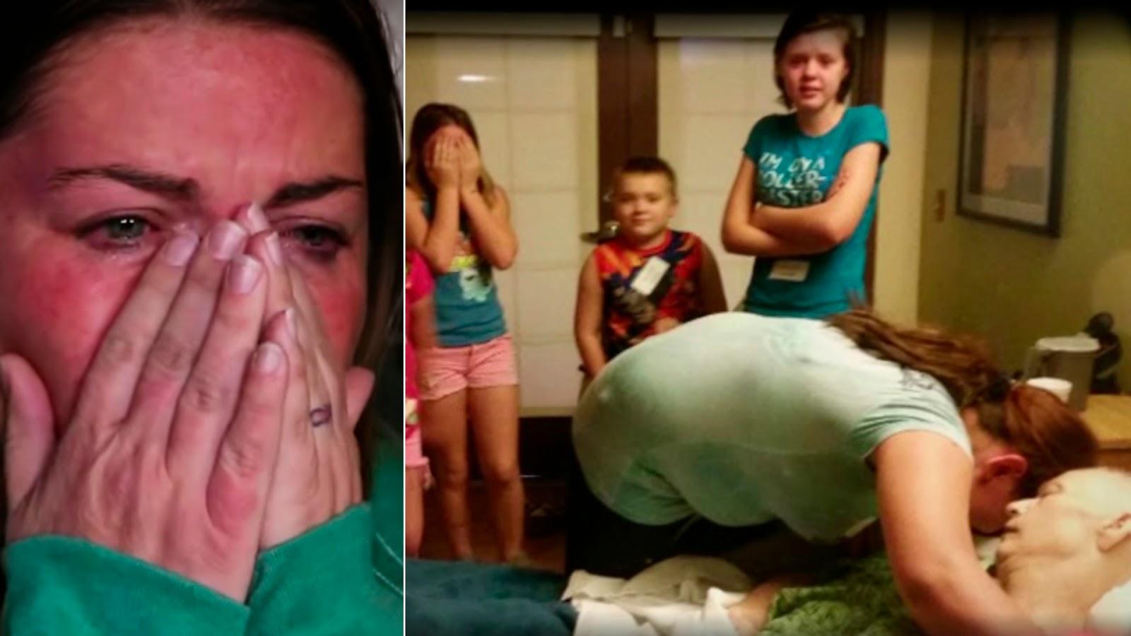 699fc2e56e1fd Portal Curió  Esta mãe de 5 crianças adotou 3 filhos de sua vizinha ...