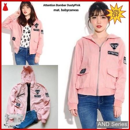 AND066 Jaket Wanita Attention Bomber Pink BMGShop