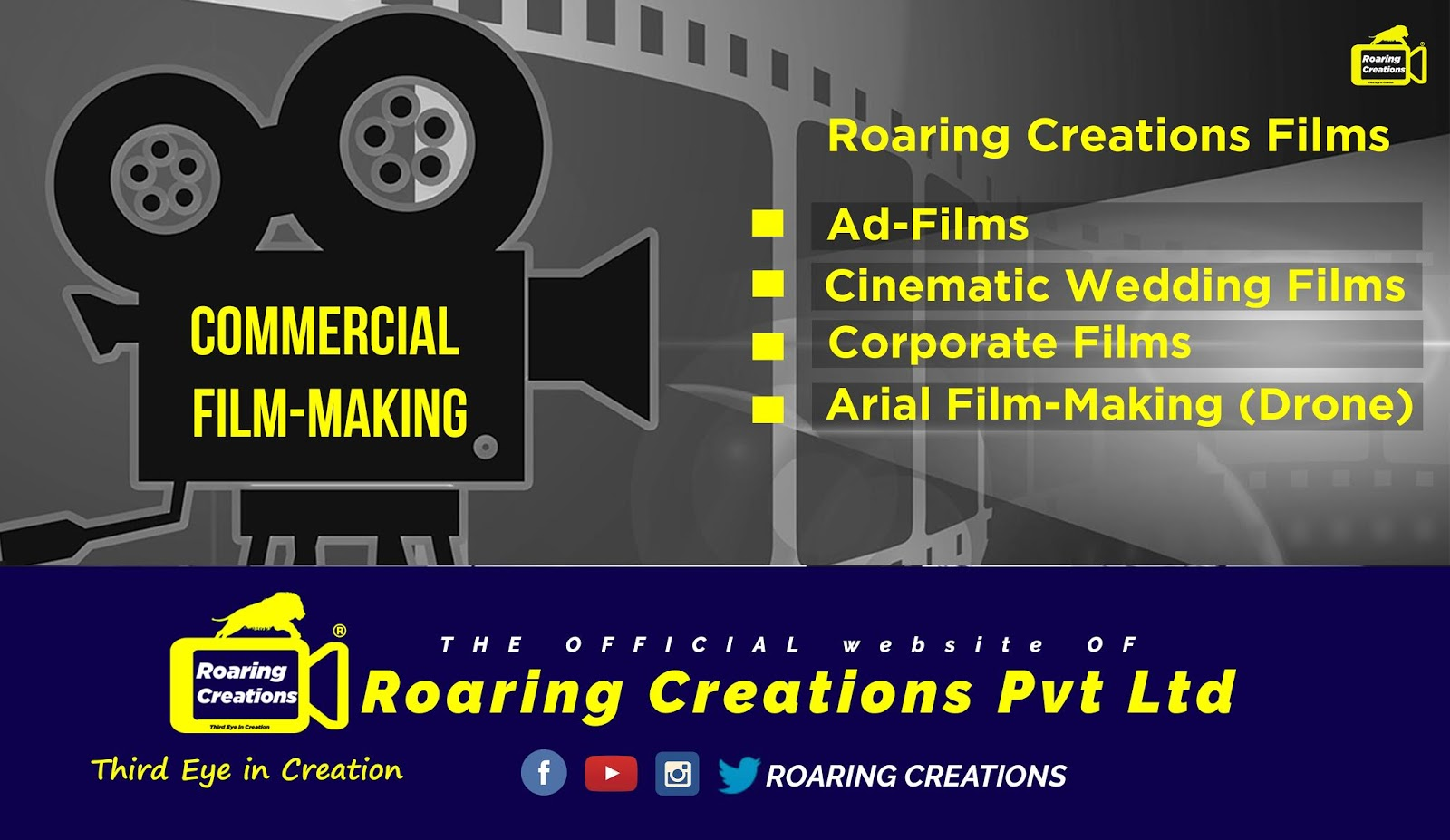 Commercial Film Making @ Roaring Creations