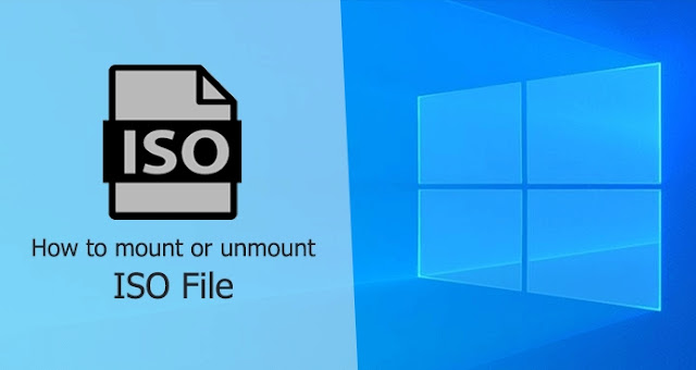 How to Mount ISO and IMG files in windows 10 or 8.1 step-by-step process