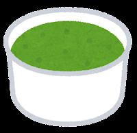 カップのアイスクリームのイラスト(抹茶)
