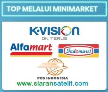 Cara Beli Voucher K Vision di Alfamart, Indomaret dan Kantor POS