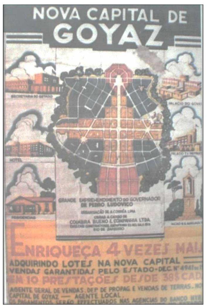 Anúncio de lotes em Goiânia na década de 1930