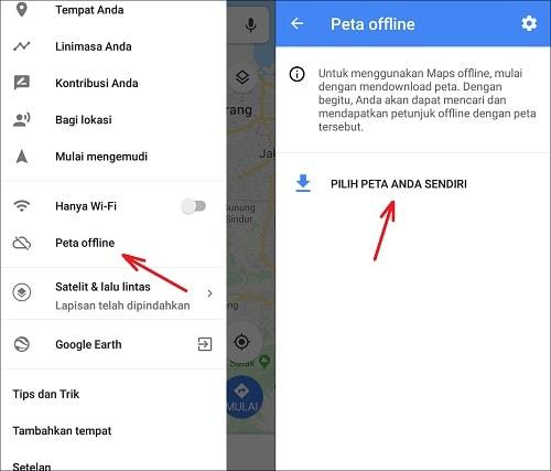 Cara Menggunakan Google Maps Secara Offline di Android Dengan Mudah