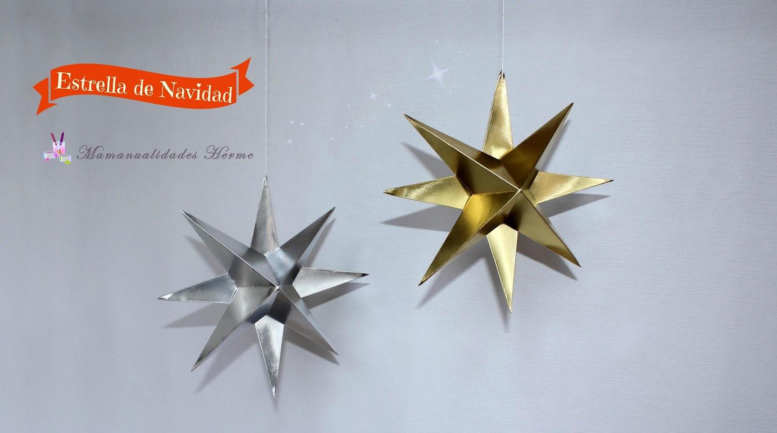 Manualidades herme estrella de navidad en 3d - Decorar estrella navidad ...