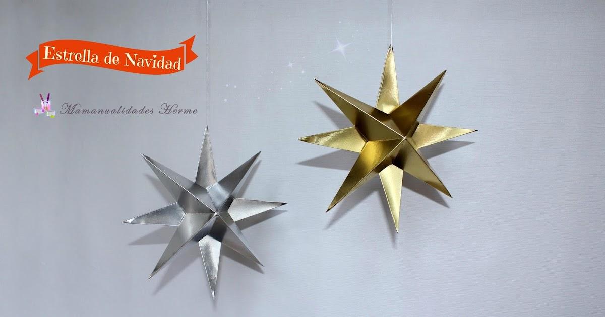 Manualidades herme estrella de navidad en 3d - Manualidades de estrellas de navidad ...