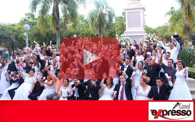 O maior casamento coletivo já visto em Santiago.