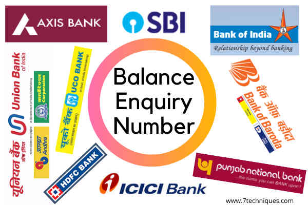 Indian Banks Balance Enquiry Number