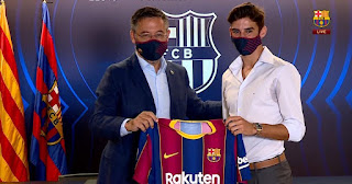 Barcelona has officially unveiled Francisco Trincao