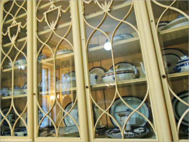 Vajilla Original en la Despensa del Mayordomo de la Mansión de John Brown, Providence