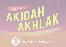 Download Buku Guru dan Siswa Akidah Akhlak Kelas 9 MTs Kurikulum 2013