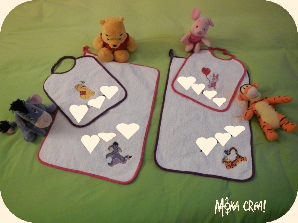 Asciugamani E Bavaglini Personalizzati.Moka Crea Un Nuovo Set Per Le Mie Bimbe Bavaglini Ed Asciugamani
