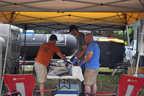 Preparing BBQ at the 2019 Praise The Lard BBQ Contest