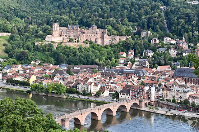 Castelo de Heidelberg e Ponte Velha vistos do Caminho dos Filósofos