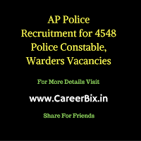 AP Police Recruitment for 4548 Police Constable, Warders Vacancies