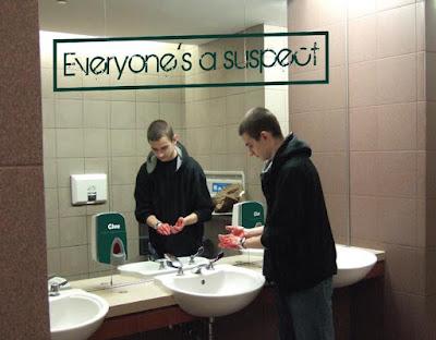 Clue Bathroom Advertisement