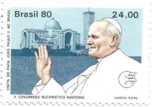 Selo Papa João Paulo II em Aparecida