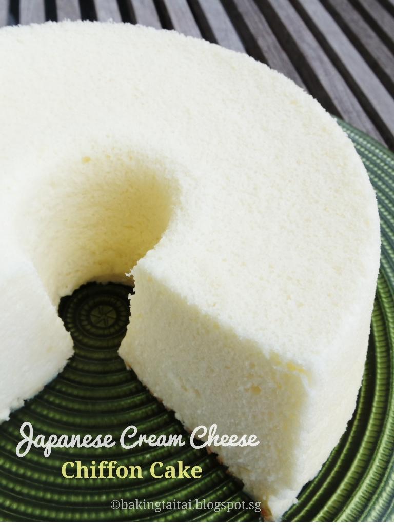 Baking Taitai Japanese Cream Cheese Chiffon Cake Premium Blueberry 20cm Recipe As Taught By Hiromi Akahori Translated Bakiing