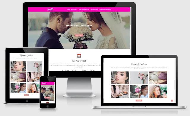 Invite - Responsive Blogger Template For Wedding Blog (Free)