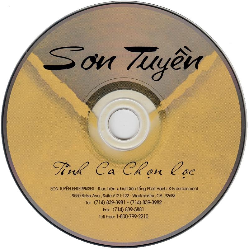 Sơn Tuyền CD23 - Tình Ca Chọn Lọc (NRG) + bìa scan mới