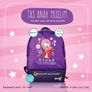 tas anak sekolah karakter islami