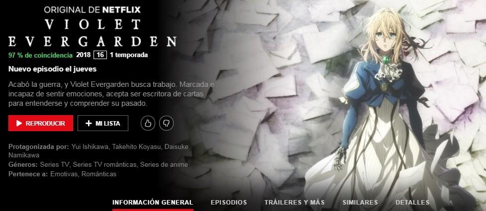 Violet Evergarden Netflix