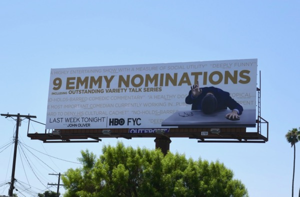 John Oliver 2018 Emmy nominee billboard