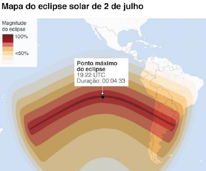 Eclipse solar poderá ser visto em Cajobi