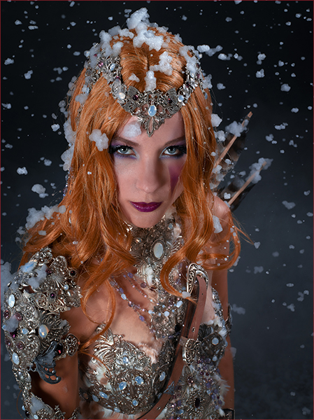 Viking Girl Snow Celtic Mythical Pagan Armor Lady Archer Warrior Cosplay Costume Guerriere Vikings Neige Archere Armure Femme celtique mythologie Freya