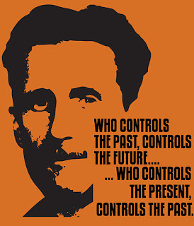 George Orwell 1984 on control of the past