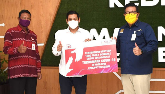 Walikota Kediri Terima 500 Paket Bantuan Sosial dari OJK