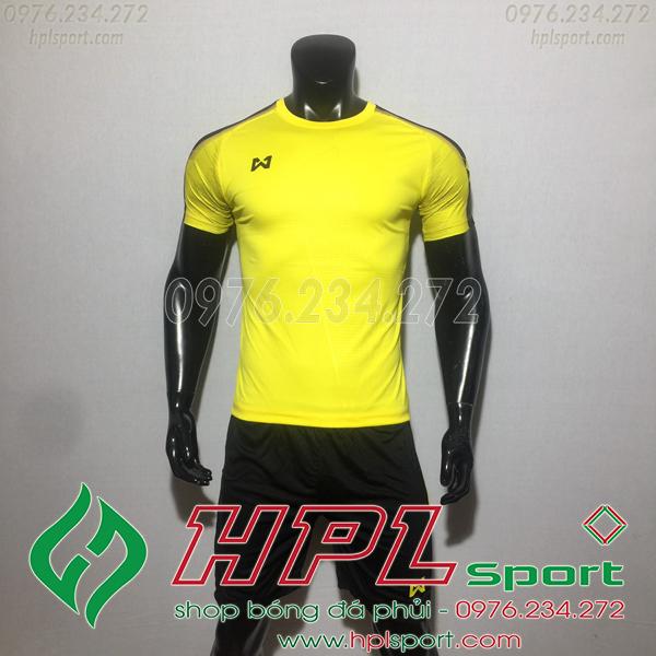 Áo bóng đá ko logo Warix HAT SG  Màu Vàng