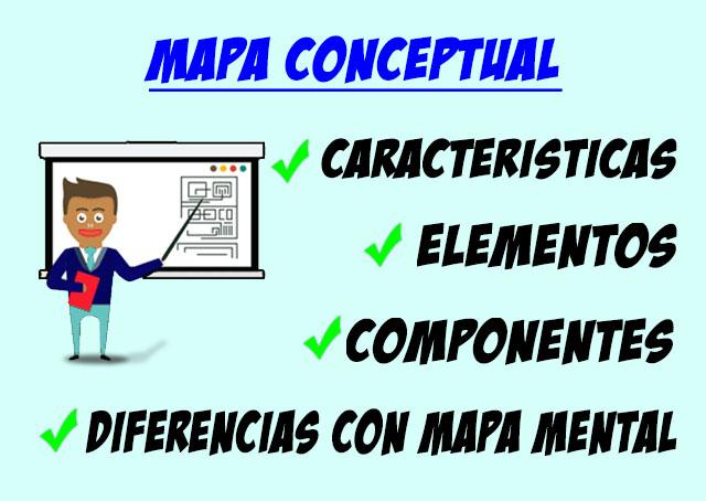 características, elementos, componentes de los mapas conceptuales