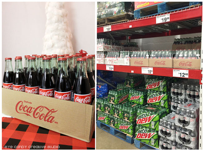sam's club in store photo of coca cola bottles