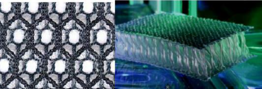 spacer fabrics with closed and open structure