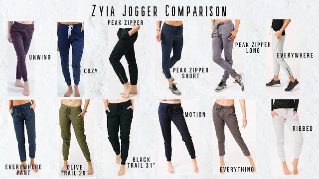 zyia active joggers, zyia joggers, zyia everywhere, zyia jogger comparison, zyia pants, zyia pant comparison