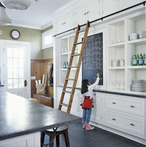 Same Kitchen Diffe View Bhg Love The Contrast Of Black Chairs And White Cabinetry