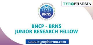 BNCP Junior Research Fellowship (JRF) BRNS Jobs