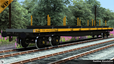Fastline Simulation: A freshly repainted  YLA Mullet in engineers yellow and grey livery.