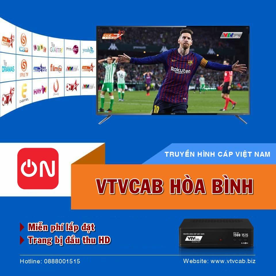 Khuyến mãi lắp truyền hình cáp + internet cáp quang của VTVCab Hòa Bình
