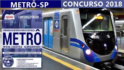 Apostila Concurso Metrô-SP 2018 - Impressa e Digital em pdf