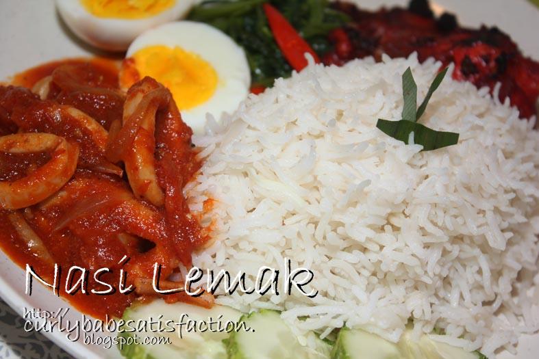 Curlybabe S Satisfaction Nasi Lemak Sambal Sotong Ayam Tandoori
