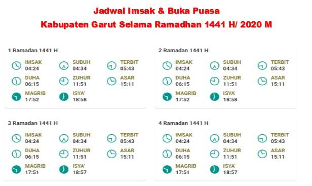 jadwal imsakiyah kabupaten garut selama ramadhan